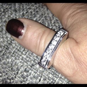 Other - .925 STERLING SILVER GENUINE ZIRCON RING! Weighty!